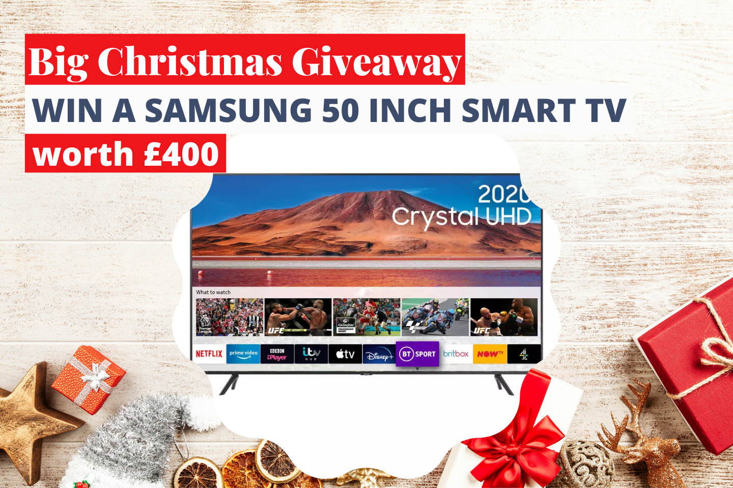 Win A Samsung 50 Inch Smart TV